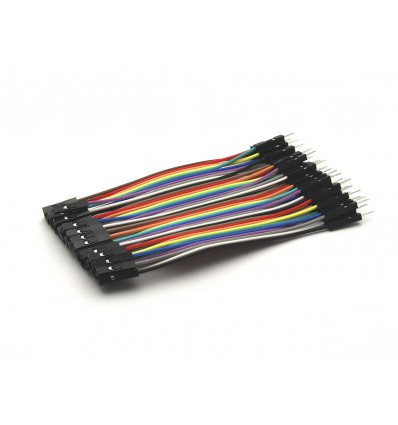 Male to Female Dupont Line 40 Pin 10cm