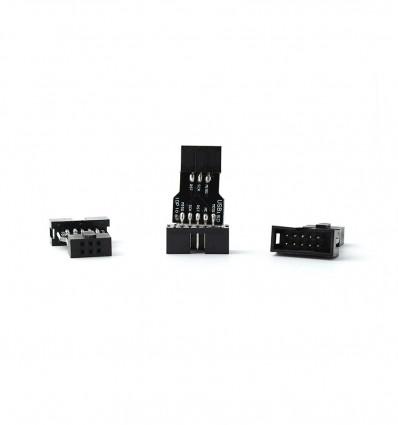 10 Pin to 6 Pin Adapter Board AVRISP USBASP STK500