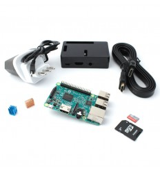 Raspberry pi 3 starter kit 16 GB black
