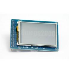 """Display TFT arduino a colori 2,4"""" con touch screen arduino"""